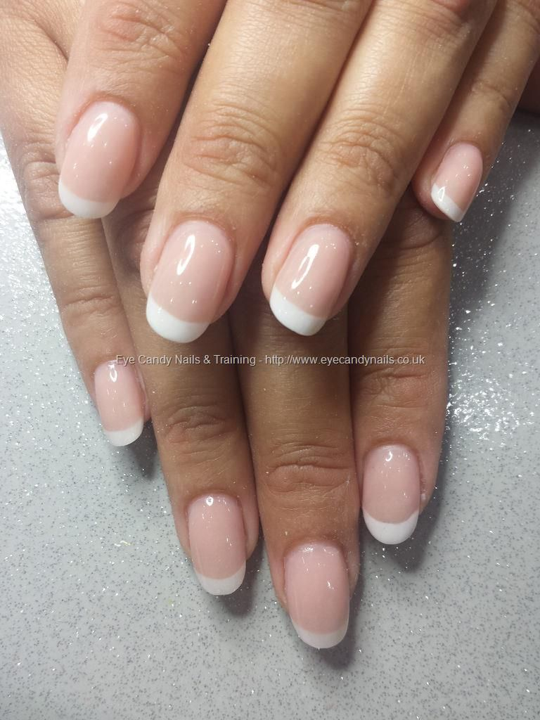 Pink and white acrylic french overlays | Cute Nail Designs ...