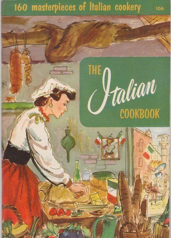 Italian Cookbook Cover : S italian cookbook by culinary arts institute vintage