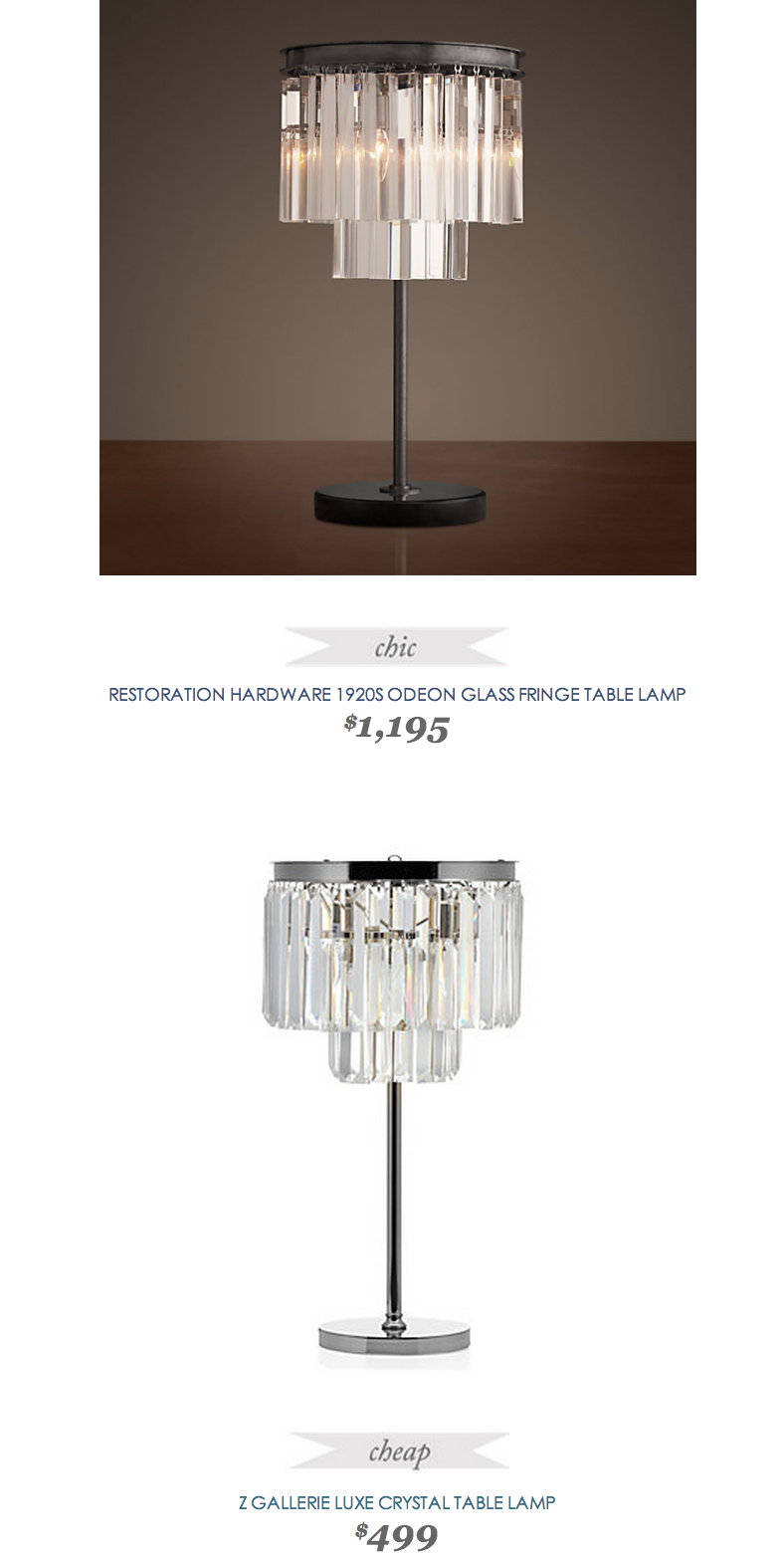 Restoration Hardware 1920s Odeon Glass Fringe Table Lamp Lighting