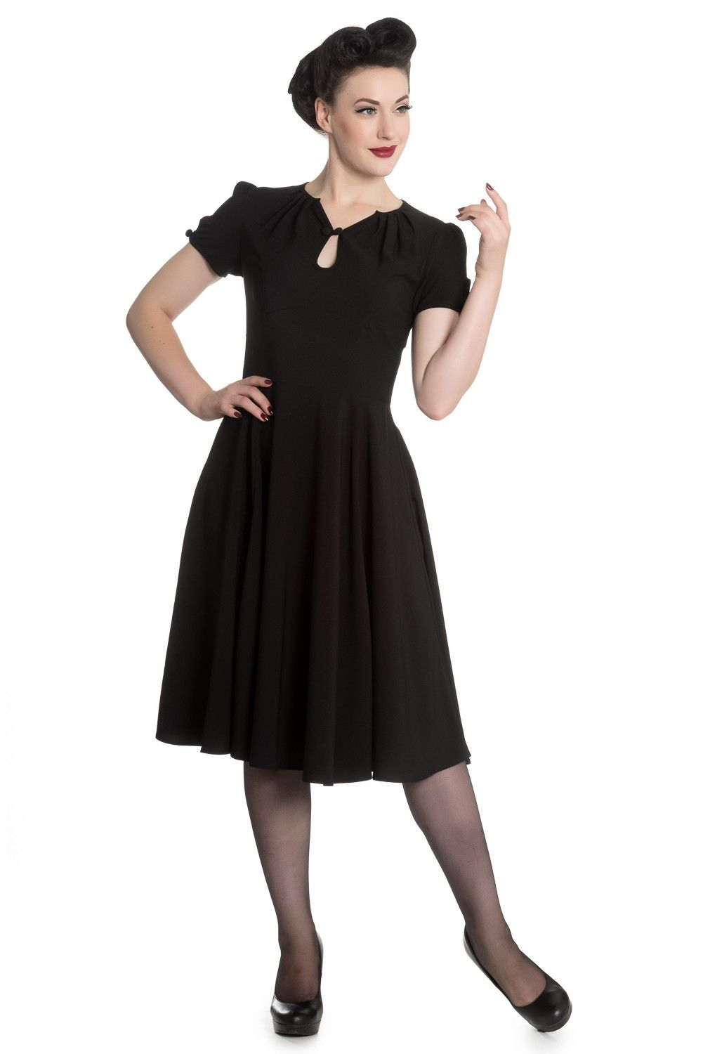 Riley 50er Jahre retro Vintage Style Petticoat Kleid v. Hell Bunny ...