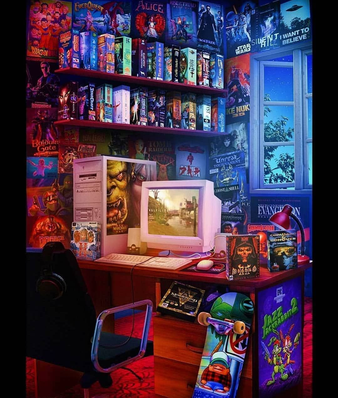 Amazing 90 S Setup Concept Art Gamer Pcgaming Gamingpc