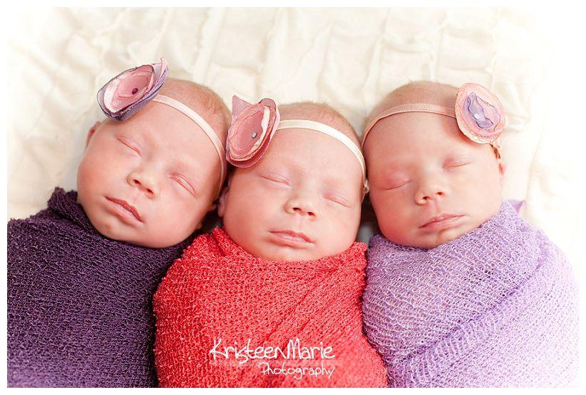 Newborn triplets girls indianapolis newborn photography