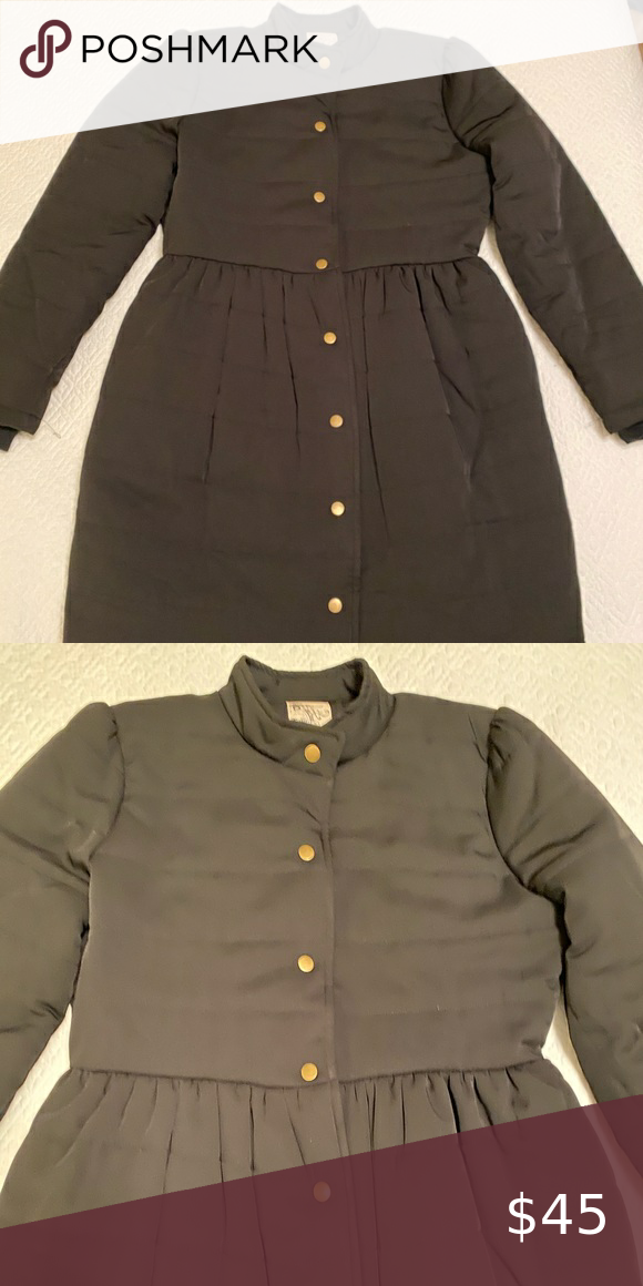 Black Tulle puffer jacket