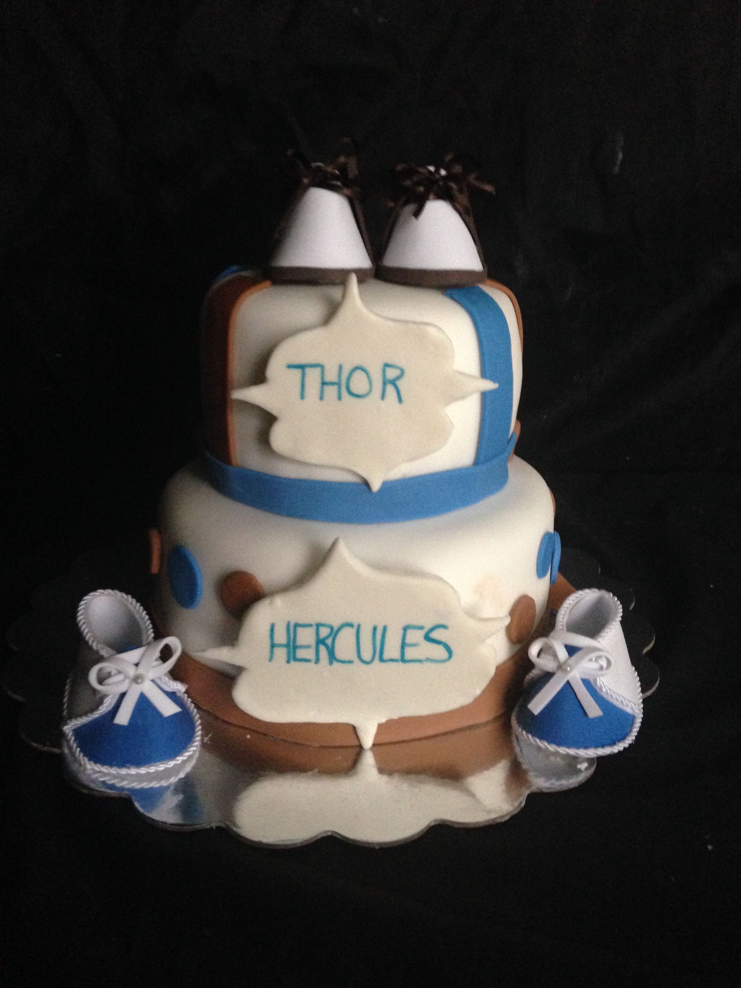 Baby Shower Cake For Twins With Crazy Nicknames Fondantcake