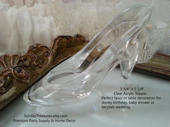 12 Cinderella Slipper Shoe / Party Favor / Clear Slipper Shoe / Table Decoration / Disney Birthday Wedding Bridal Baby Shower / Cake Topper / Fairytale wedding, cinderella wedding, disney wedding  ♥♥ SHIPS IN 1-2 DAYS. NO LONG WAITING PERIODS.  ♥~~Sunday Treasures Premium Party Supply & Home Decor.~~ ~~Sunday Treasures Design~ ~Hand made by Sunday treasures~  ♥♥♥♥See WEDDING Items Here…