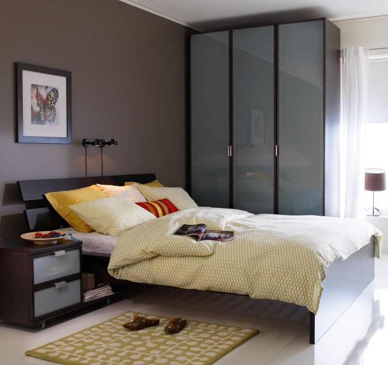 Ikea 2010 Bedroom Design Examples: Furniture In Dark Colour Adds Chic And Style To Space