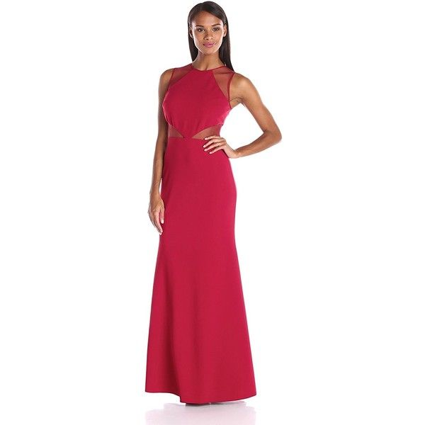 JS Collection Women\'s Ottoman Gown with Illusion Mesh Cut Outs ($113 ...