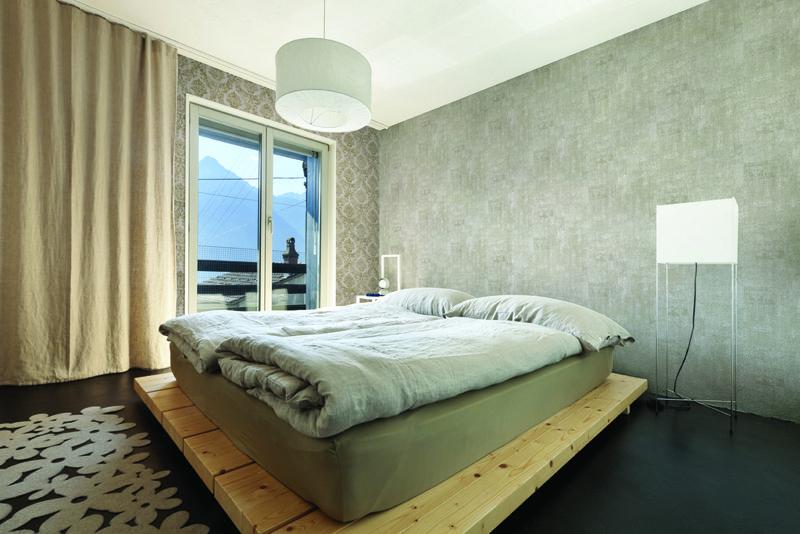 Chambre à Coucher Réalisée Avec Papier Peint Montecolino CALLISTA