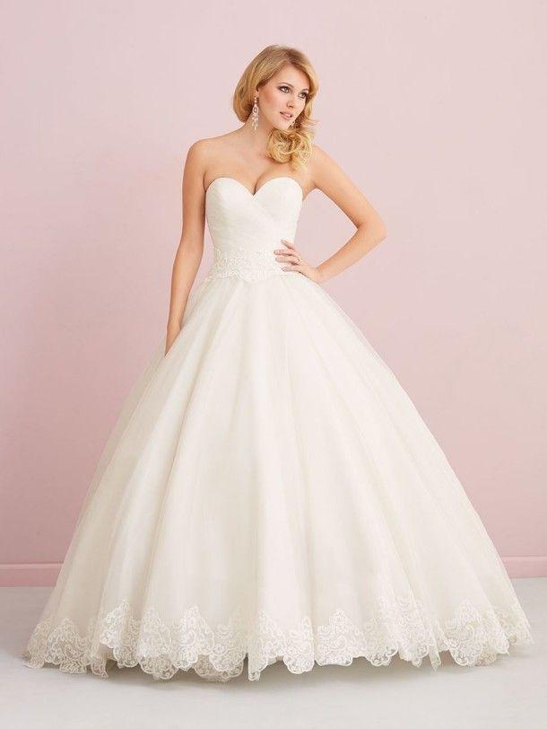 Allure English Net Ballgown And Lace Wedding Dress 2757, Fall wedding dresses ~ Feenwedding.Com