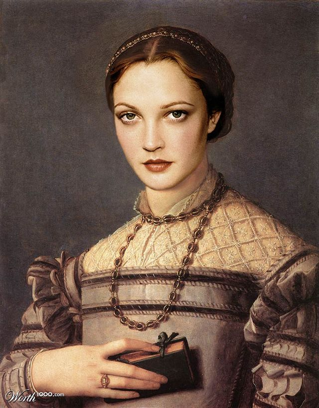 Classic Paintings Recreated Using the Faces of Modern Celebrities http://laughingsquid.com/classic-paintings-recreated-using-the-faces-of-modern-celebrities/