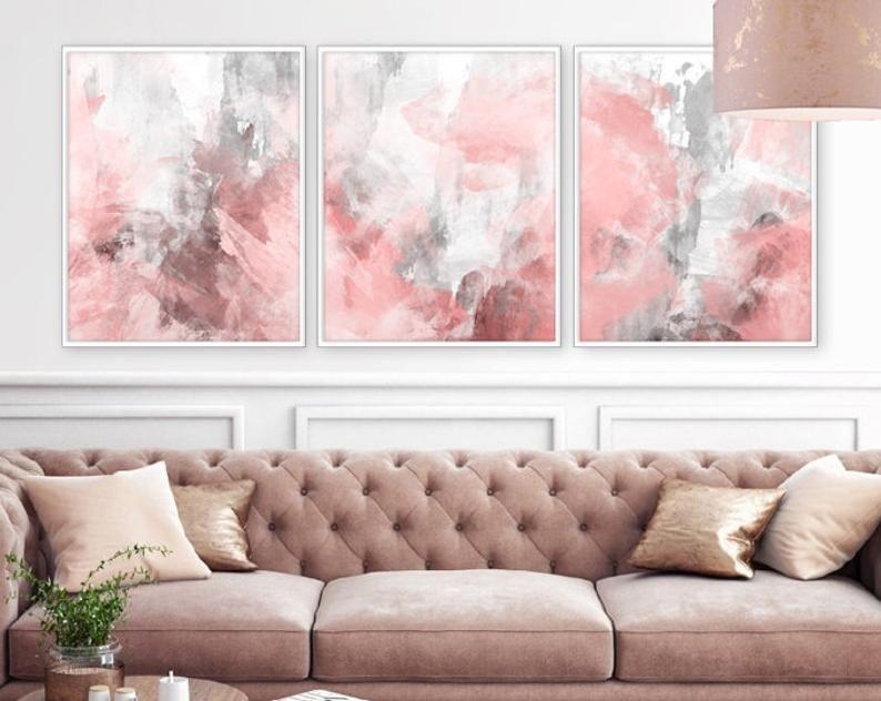 Blush Pink Decor Blush Pink Wall Art 3 Poster Set Bedroom Etsy In 2020 Pink Bedroom Decor Blush Pink Decor Pink Decor