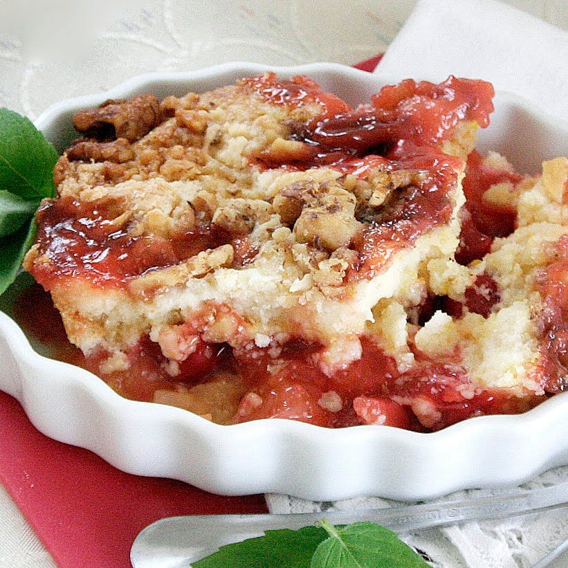 Cherry Pineapple Dump Cake. I just had this and my god, so good, and SO simple! I want to try this with peaches.