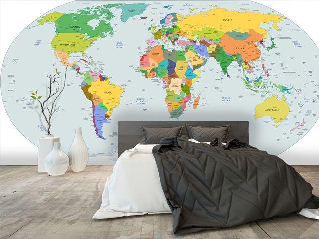 carte du monde design | World Map | Pinterest
