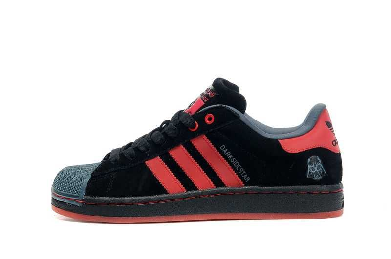 Mens Adidas Superstar Star Wars Shoes Red Black