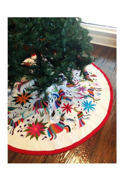 Otomi Tree Skirt Mexican Christmas Decorations Boho Christmas Tree Diy Christmas Tree Ornaments