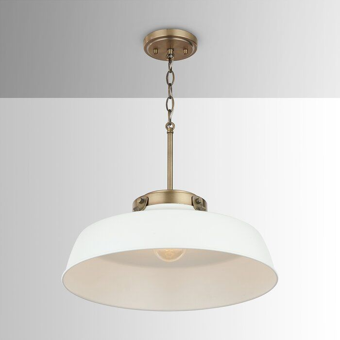1 Light Single Dome Pendant Reviews Birch Lane Pendant Lighting Light White Pendant