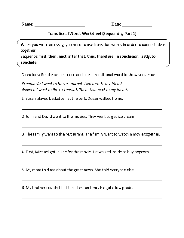 Transitional Words Sequencing Part 1 … | Pinterest