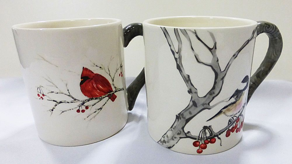 Global Design Connection Kate Williams Lot Of Two Mugscup With