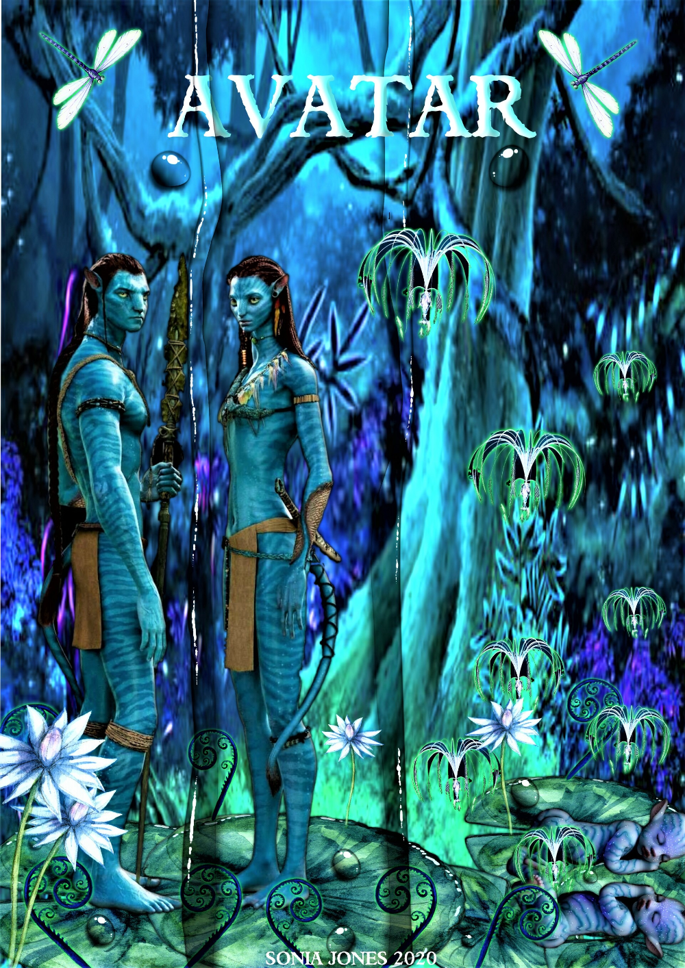 Artstation My Homage To Avatar The Movie Sonia Jones Homage Art Station Avatar Movie