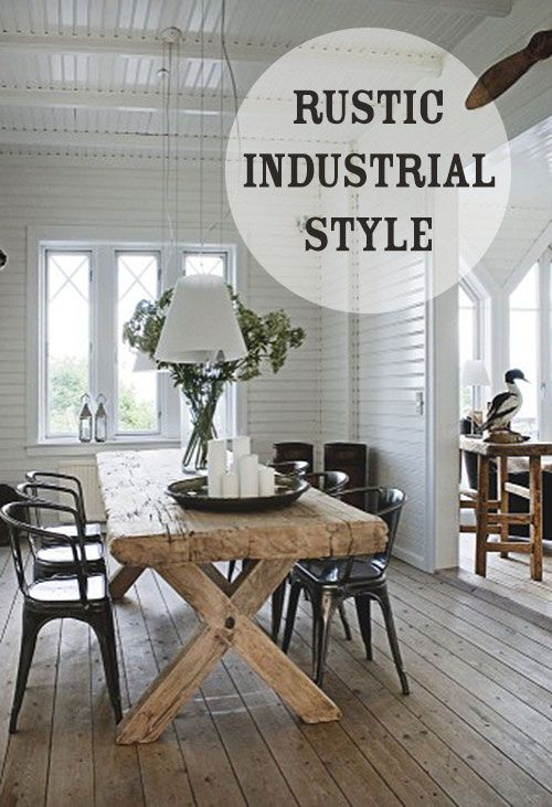 Industrial farmhouse on pinterest corporate office decor for Rustic industrial decor