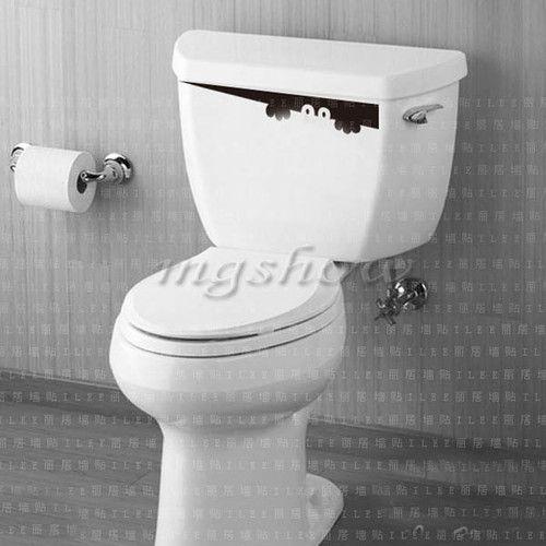 Smiley Face WC Toilet Decal Wall Mural Art Decor Funny Bathroom Sticker Vinyl