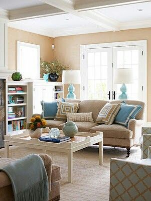 Tan And Turquoise Beige Living Rooms Living Room Turquoise Tan Living Room