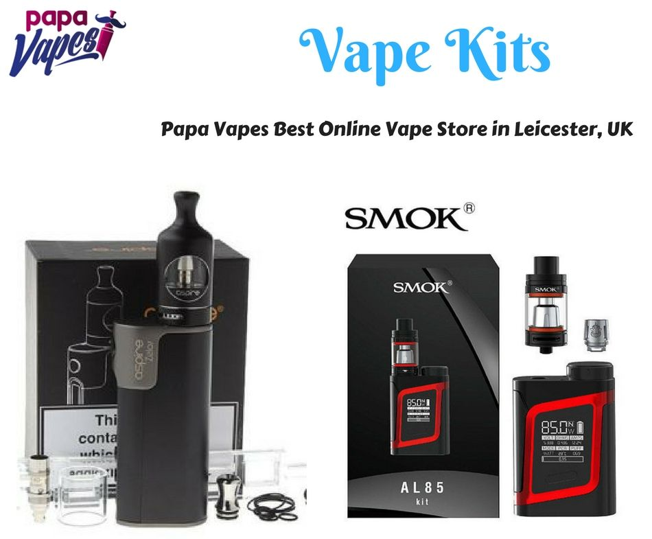 Choose our vape starter kits from the leading brands like