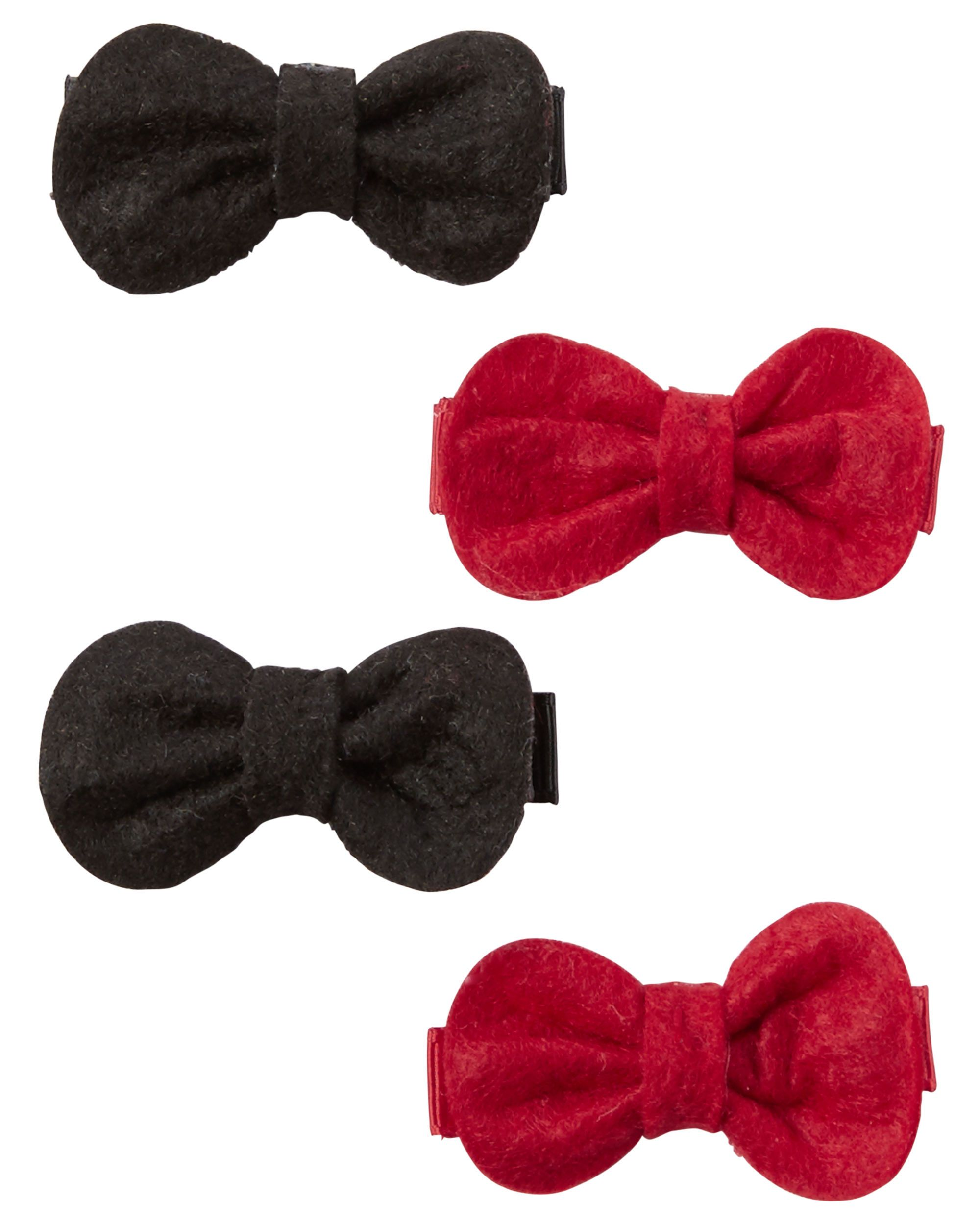 1d6295ff2 4-Pack Bow Hair Clips | Carter's | Hair Clips, Bow hair clips, Baby ...