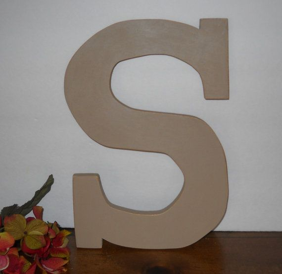 Wall Letter S/Wooden Letter/Rustic by SouthernXpressions on Etsy, $25.00