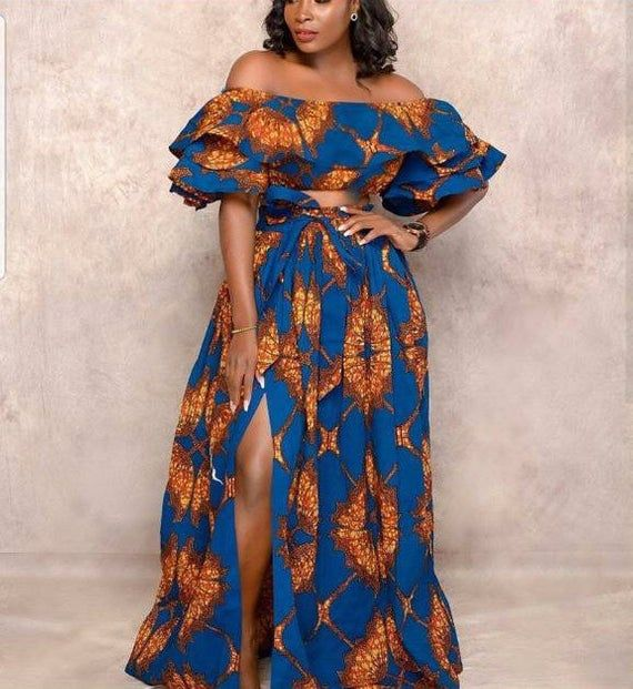 African Clothing for women/Ankara top and skirt/African Fashion/Ankara top /African skirt/African Traditional wears