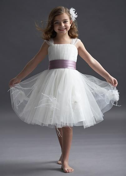 white flower girl dresses with purple sash if i had to create a