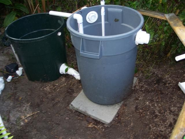 Diy waterfall filter so neat sustainable living for Best homemade pond filter media
