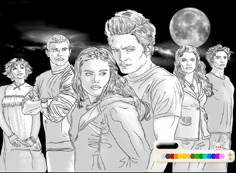 Twilight Coloring Pages For Those Skilled With A Crayon Marker Paint Now Where Is My Box Of Cray Cartoon Coloring Pages Coloring Pages Twilight Saga Books