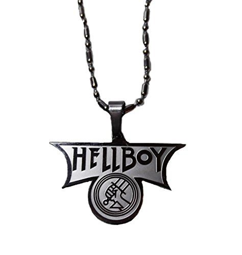 """HELLBOY Name and Logo Stainless Steel Pendant NECKLACE w/ 18"""" Chain ** Learn more by visiting the image link."""