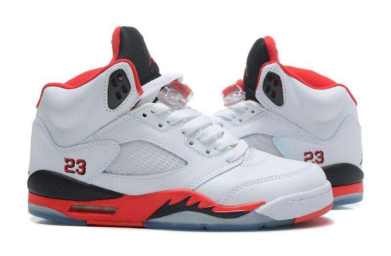 Buy Nike Air Jordan 5 Womens White Fire Red Black Shoes New from Reliable Nike  Air Jordan 5 Womens White Fire Red Black Shoes New suppliers.