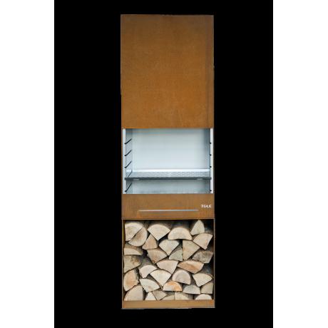 Le Barbecue à Bois Et Charbon De Bois TOLE Modèle K60 Est Une Réel Cheminée  D