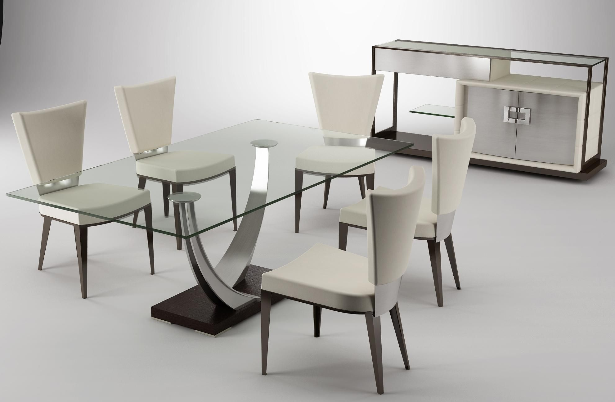 Amazing modern stylish dining room table set designs elite for Glass dining room sets