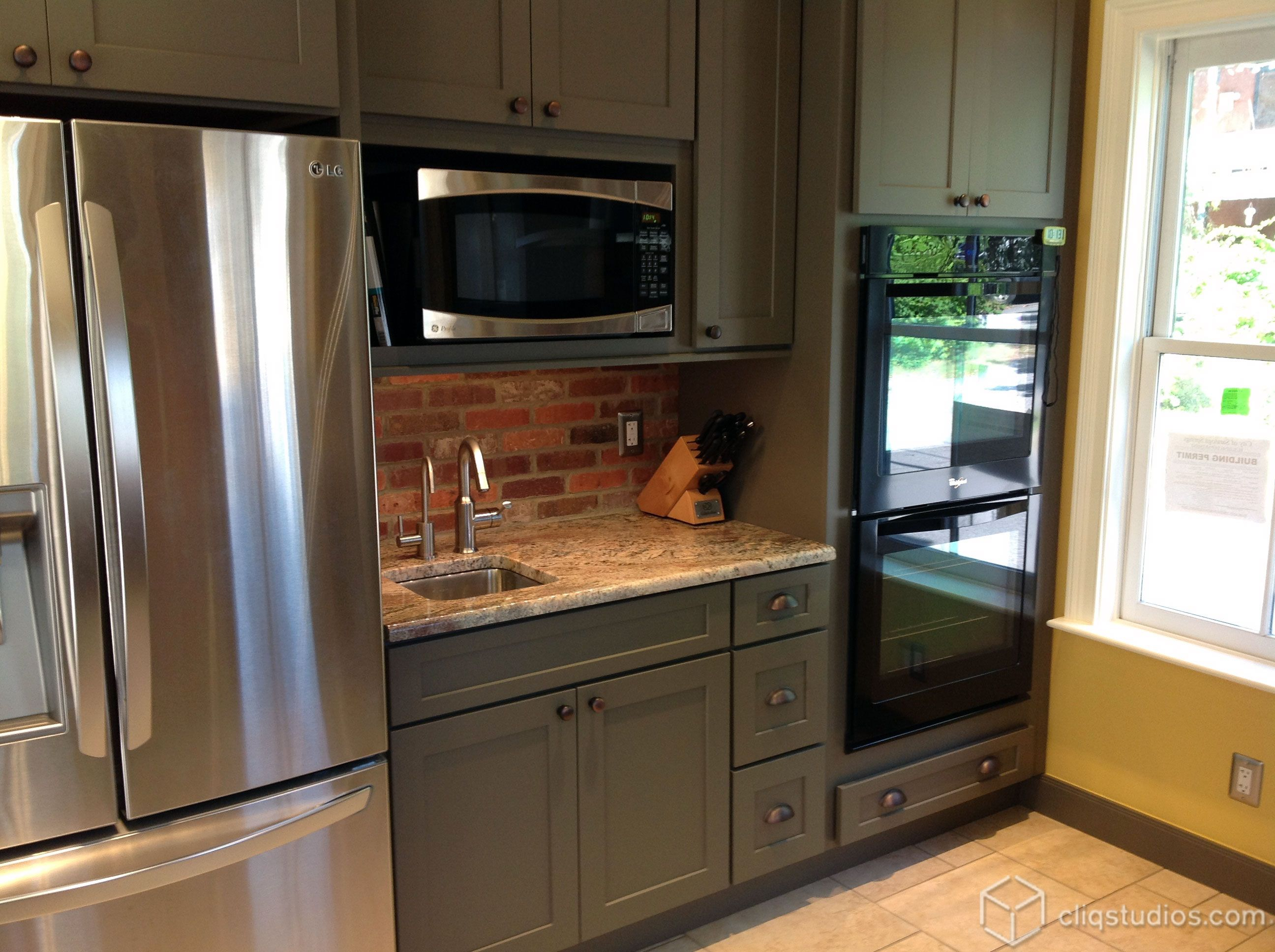Kitchen Cabinets Dayton Ohio Dayton Painted Tea Leaf Mission Kitchen Cabinets From Cliqstudios