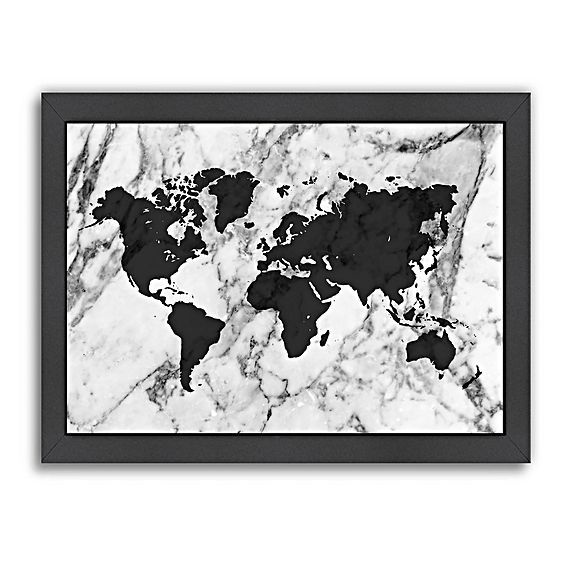 Marble world map print art grey by americanflat artworks marble world map print art grey by americanflat gumiabroncs Image collections
