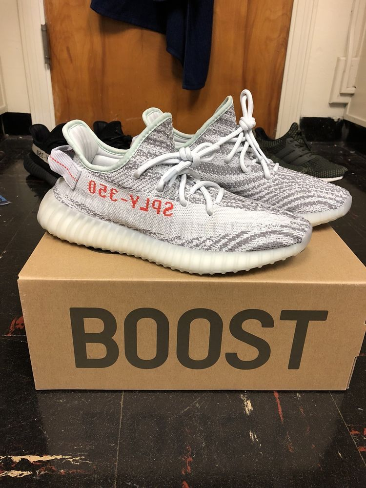 reputable site d2bbb c9ae6 ADIDAS YEEZY BOOST 350 v2 BLUE TINT SIZE 9 (100% AUTHENTIC) RUNNING SHOE   fashion  clothing  shoes  accessories  mensshoes  athleticshoes (ebay link)
