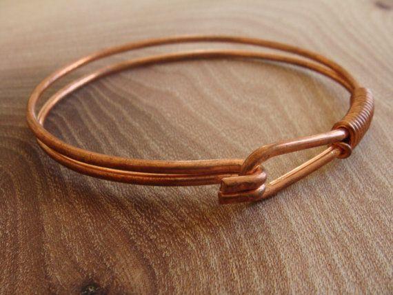 Rustic Copper Bangles Copper Bangles Handmade Artisan Copper bangles Pure Polished Copper Stacking Bangles 5