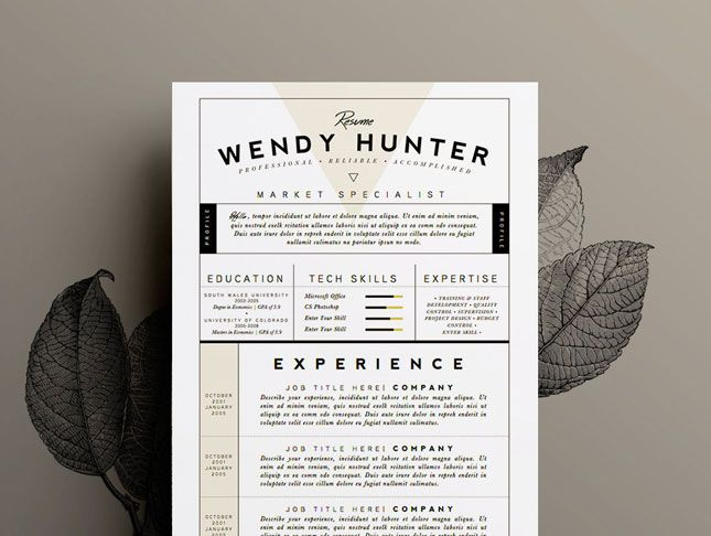Pin By Heath Morrison On Smad  Visual Resume Design
