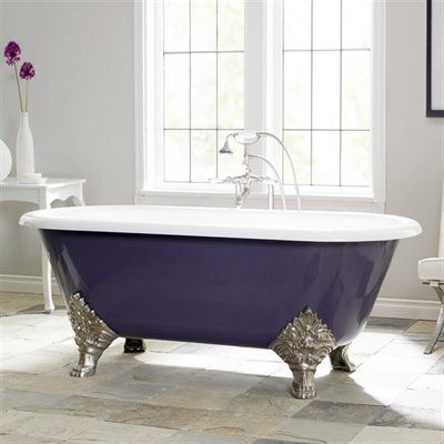 Purple Clawfooted Tub By Carlton Cast Iron Bath Cast Iron