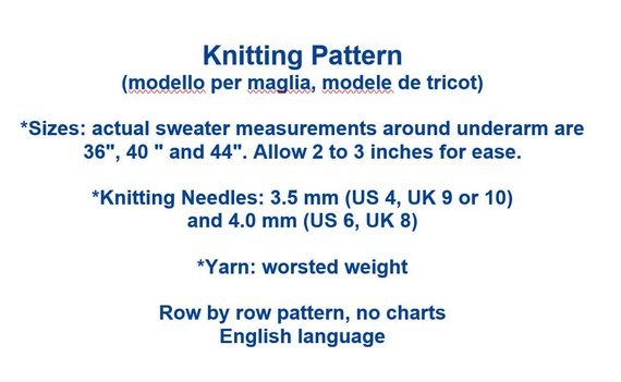 Vintage Knitting Pattern for Women's Textured Pullover