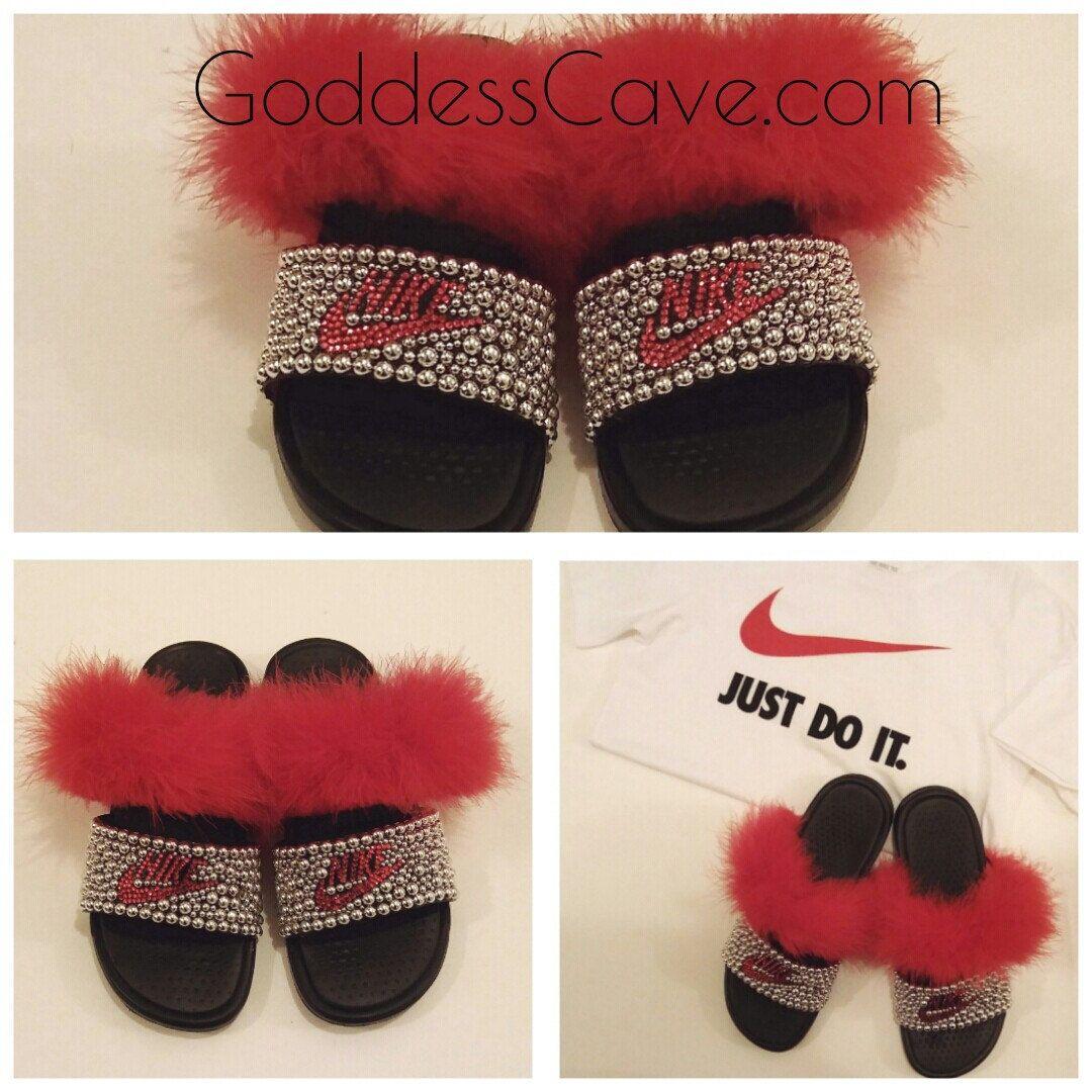 Nike slides, Bling flip flops, Hype shoes