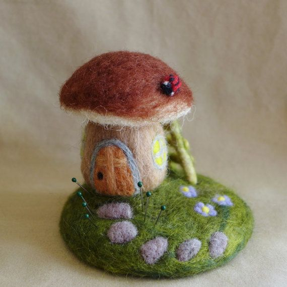 Image result for felted mushroom houses