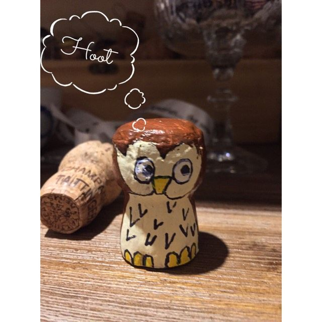 Cork People: Another Of My Wine Cork People, Corkie The Owl. So Easy To