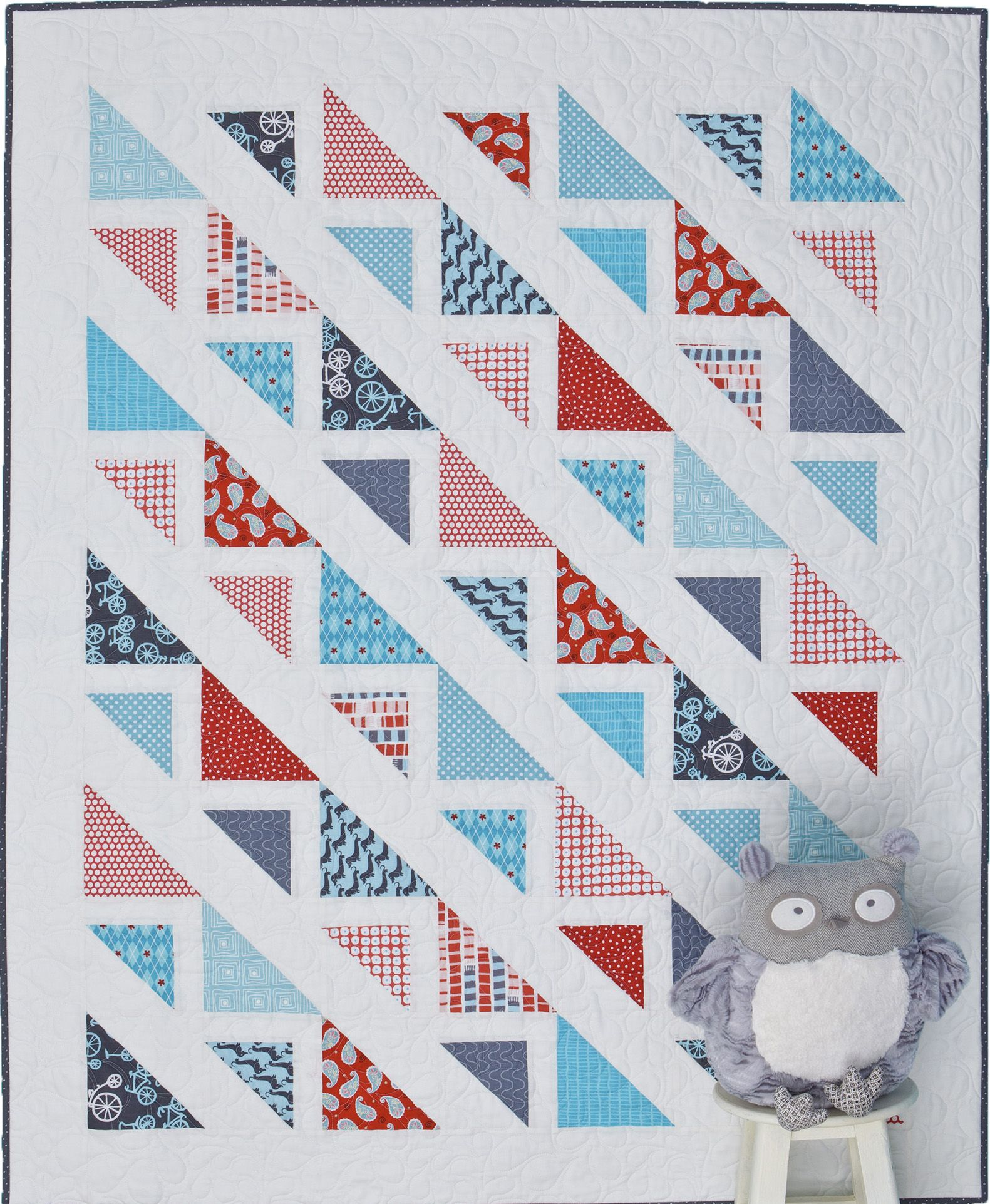 """Corn Rows quilt from """"Graphic Mixx"""" book. www.atkinsondesigns.com"""