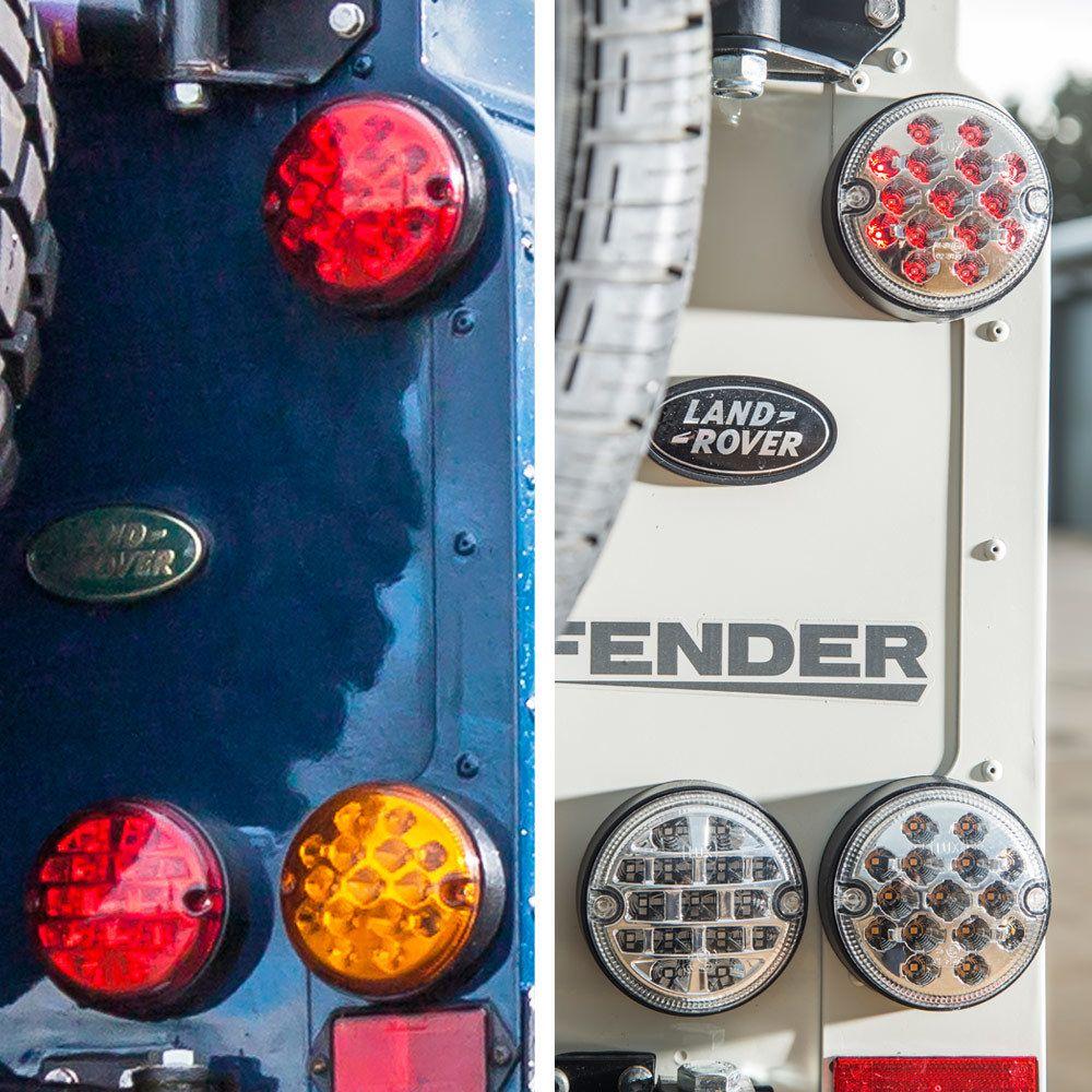 NAS style LED Lights Upgrade Kit for Land Rover Defender (95mm