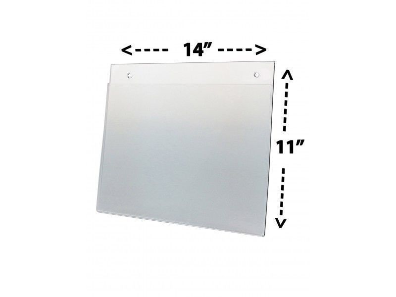 Qty 6 Fact Sheet Display 14 W X 11 H Clear Styrene Wall Mount Ad Frame Marketingholders Styrene Frames For Sale Wall Mount